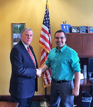 Ron Parasole with PA Senator John Blake
