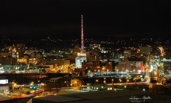downtown-scranton-night