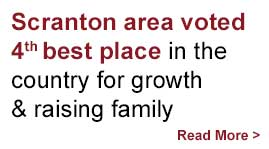 Scranton area voted 4th best place in the country for growth and raising family